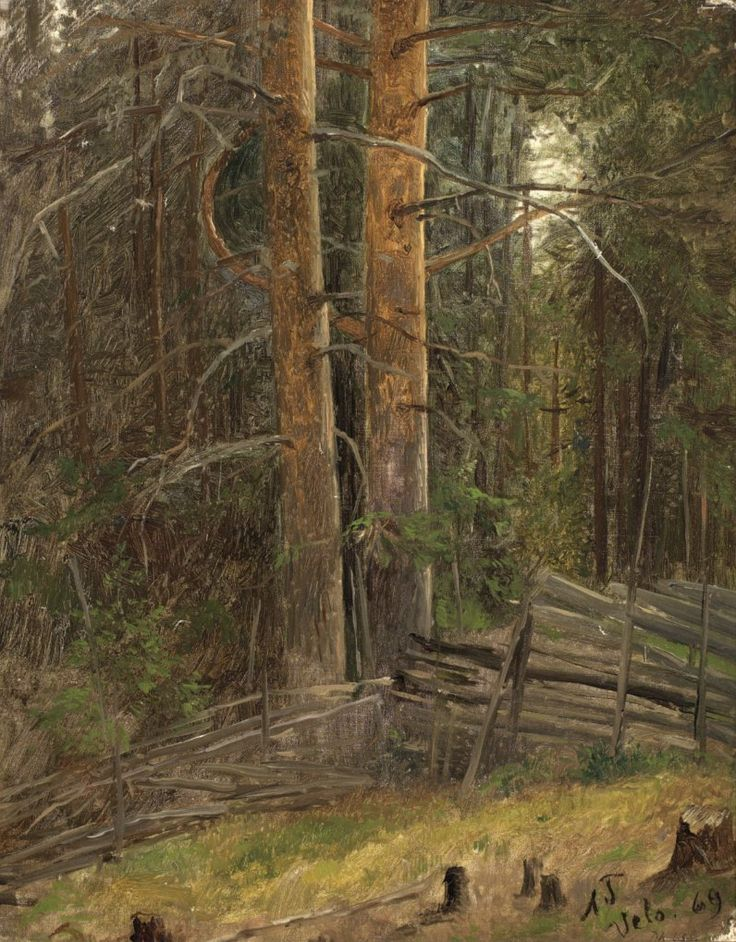 Adolph Tidemand - Forest interior 1869