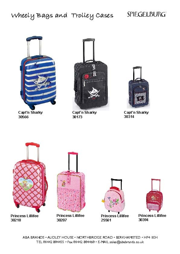 Childrens trolley cases and bags