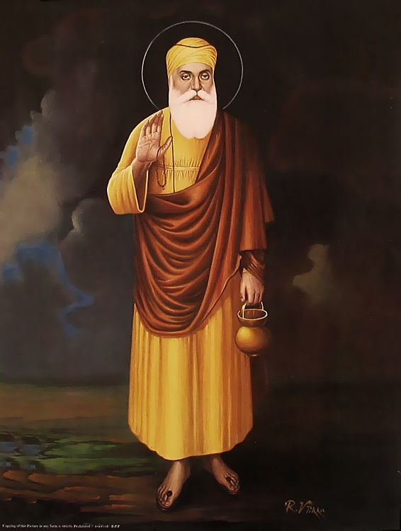Guru Nanak from Punjab - founder of the Sikh religion