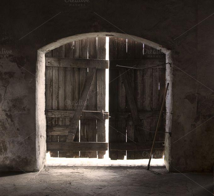 Old wooden doors by Izdebska on @creativemarket