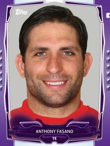 TOPPS-HUDDLE-PURPLE-BOOST-ANTHONY-FASANO-KANSAS-CITY-CHIEFS-ONLY-500-EXIST