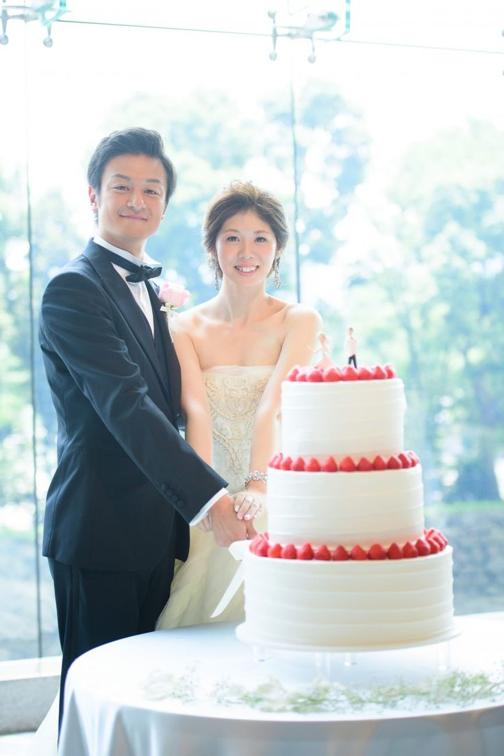 Photography:unison  #パレスホテル東京 #結婚式 #ウェディングケーキ #イチゴ
