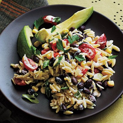 This tasty and colorful Orzo Salad gets a spicy kick from its Buttermilk Dressing which includes chili powder and ground red pepper.