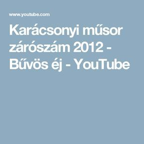 Karácsonyi műsor zárószám 2012 - Bűvös éj - YouTube