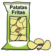 saco de batatas fritas