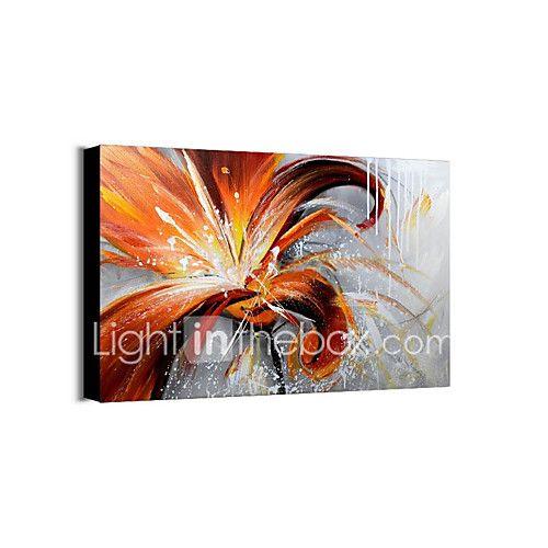Pintada a mano Floral/Botánico Pinturas de óleo,Modern Un Panel Lienzos Pintura al óleo pintada a colgar For Decoración hogareña 2017 - $196575
