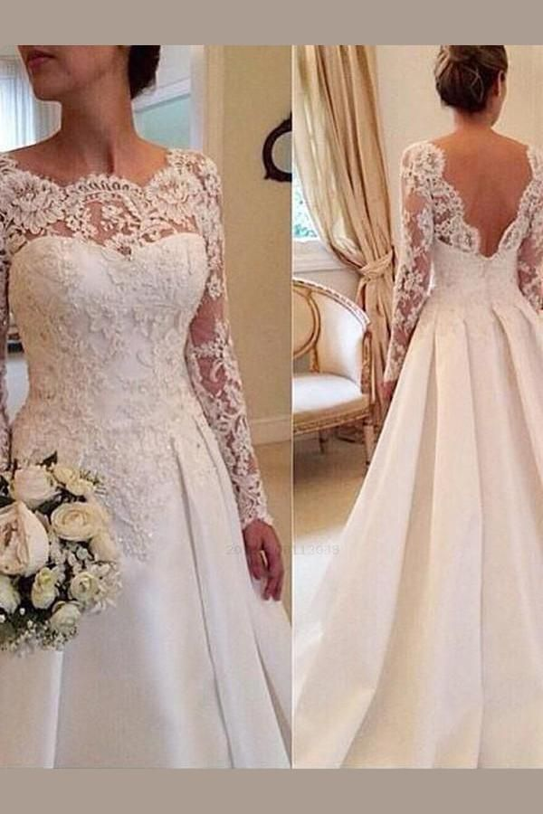 Cheap Delightful Wedding Dress With Sleeves, Plus Size Wedding Dress, Wedding Dress Lace, Wedding Dress Vintage