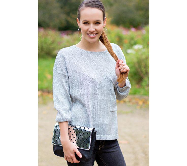 Pulovr s dlouhými rukávy a rozparkem vzadu | modino.cz #modino_sk #modino_style #style #fashion #newseason #autumn #fall