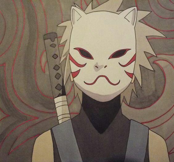 Inktober 2017 - 31 - Mask (Anbu Black Ops Kakashi / Naruto)