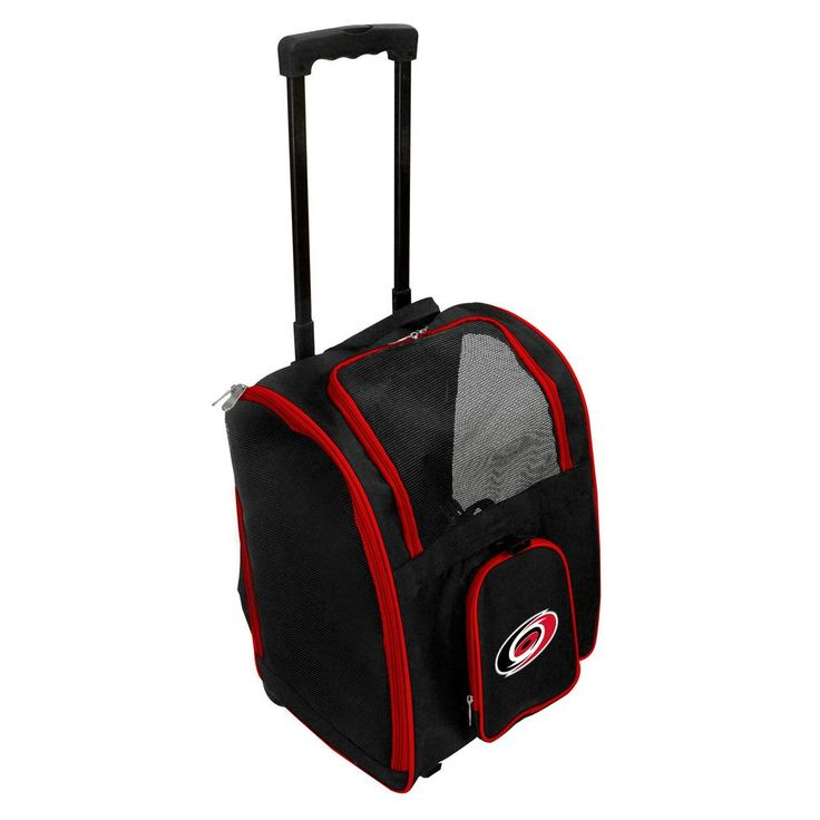 NHL Carolina Hurricanes Pet Carrier Premium Bag with wheels in Red