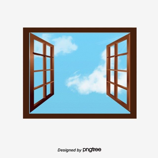 Vector Open Windows Window Clipart Decoration Blue Sky Png Transparent Clipart Image And Psd File For Free Download Window Clipart Open Window Windows