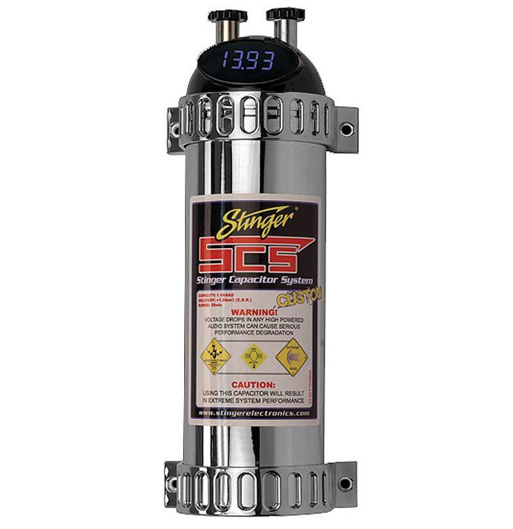 stinger shr k4141 car audio nitrous 1 farad capacitodigital volt meter |  mobile audio stuff | audio, ebay, car audio