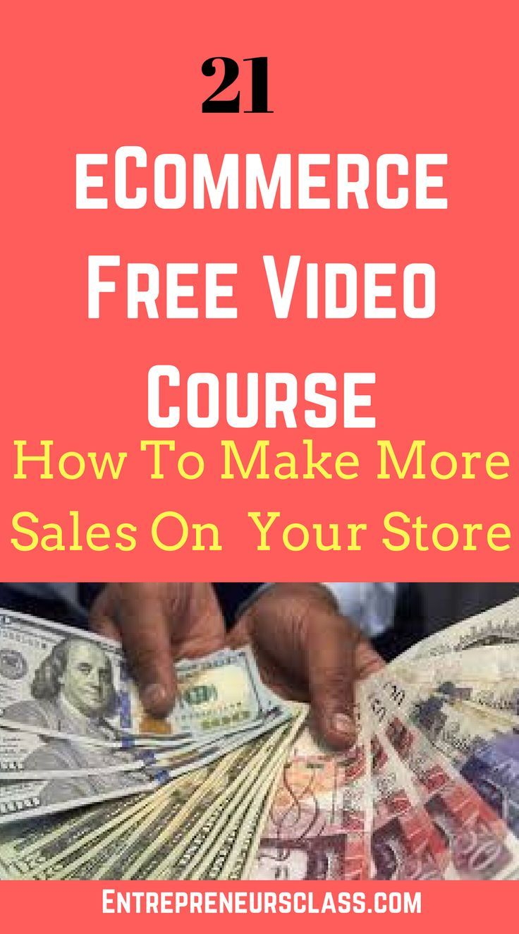 eCommerce Store Video Course – 21 Free Video Course To Earn Sales on Online Store.Learn how to make money on online store and shopify store.