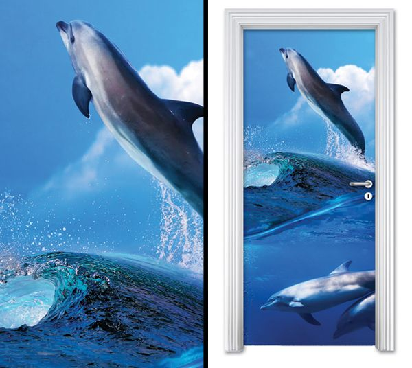 Door sticker DOLPHINS by Sticky!!!