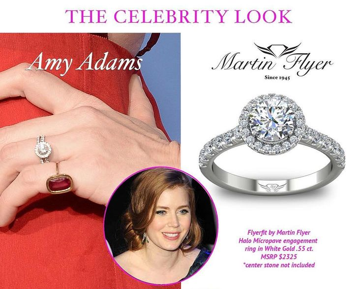 Find your own version of Amy Adams stunning engagement ring online by clicking the link in bio!💎💍❤️ .  .  #martinflyer #flyerfitbymartinflyer #love #amyadams #engagementring #engaged #halo #diamonds #marriage #celebrity #getthelook #styleicon #wedding #love #stunning
