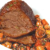 Free slow cooked beef topside with red wine and mushrooms recipe. Try this free, quick and easy slow cooked beef topside with red wine and mushrooms recipe from countdown.co.nz.
