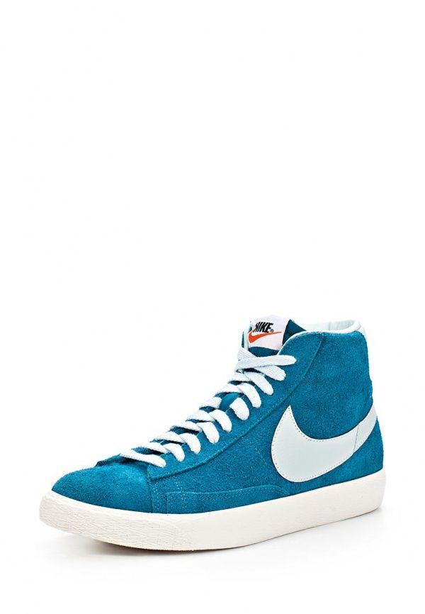 Кеды Nike / Найк мужские. Цвет: голубой. Материал: спилок. Сезон: Весна-лето 2014. С бесплатной доставкой и примеркой на Lamoda. http://j.mp/1nBPGeH
