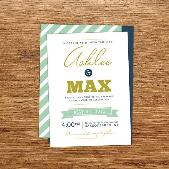 modern wedding invite (by kxo design)