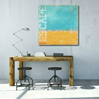 """""""Lazy Days"""" - original costal abstract painting by Sabina D'Antonio"""