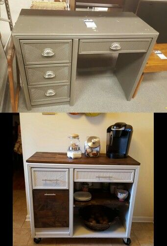 Desk turned into kitchen island