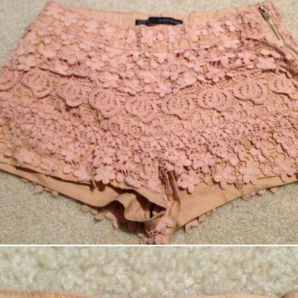 """Spotted while shopping on Poshmark: """"Zara nude shorts""""! #poshmark #fashion #shopping #style #Zara #Other"""
