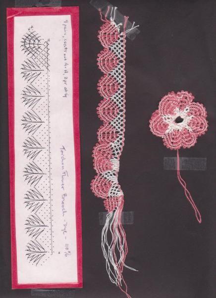 18. Torchon Flower Brooch