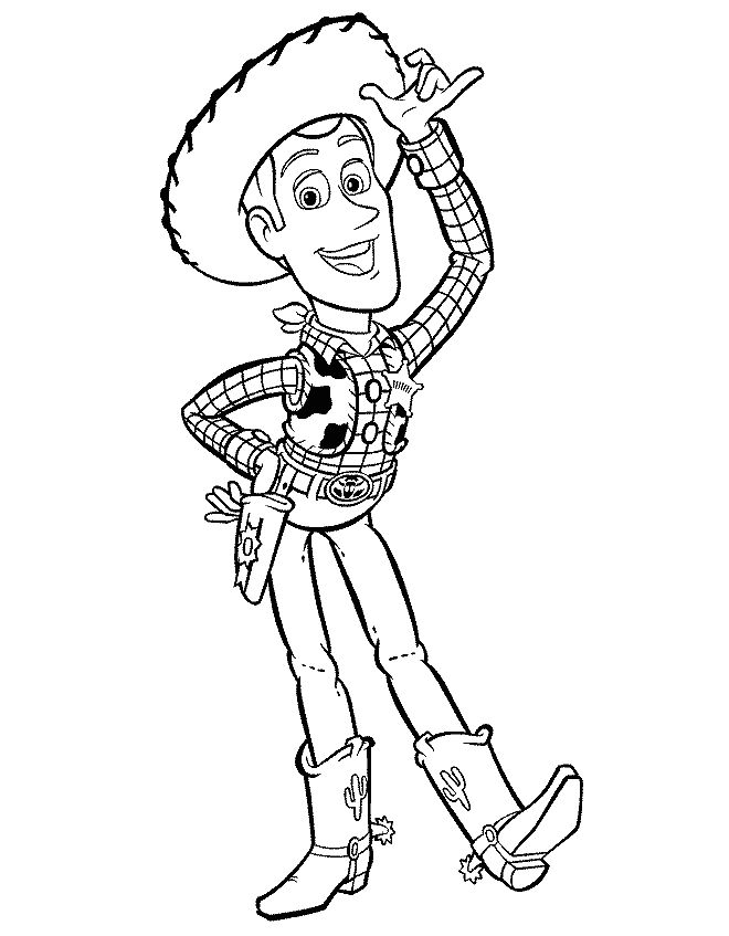 Disney Toy Story Woody Coloring Page