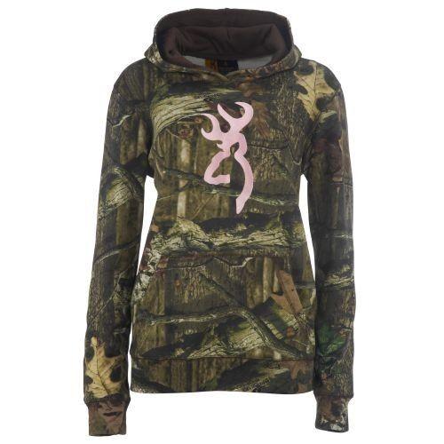 Browning women's mossy oak infinity camo hoodie with buckmark