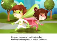 Eco Boy is back for more adventures saving the planet.  This time he teams up with Bio Girl and together they teach about recycling and it's benefits whilst riding the world of the litter loving robot Bootlexo!