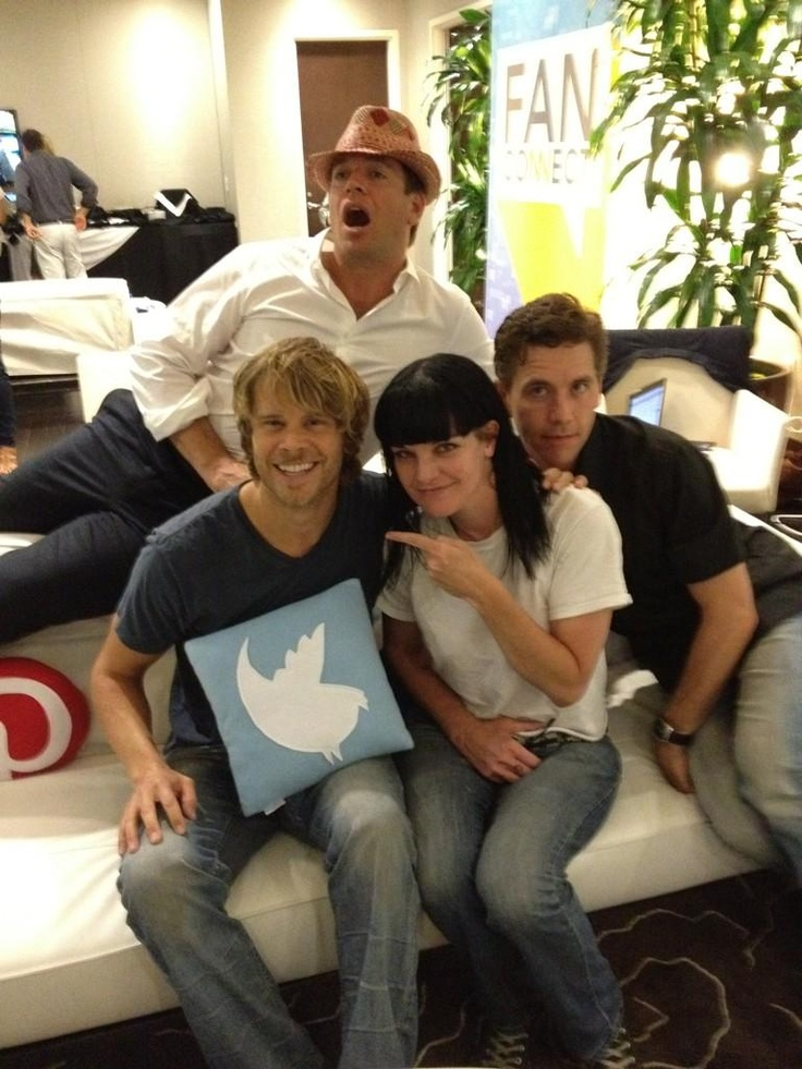 Eric Christian Olsen with Michael Weatherly, Pauley Perrette and Brian Dietzen