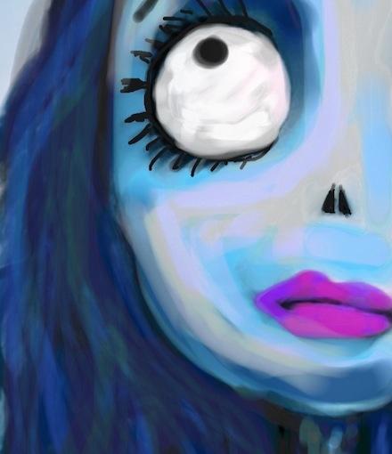 Corpse Bride Tim Burton Colorized Sketch by Ashley.