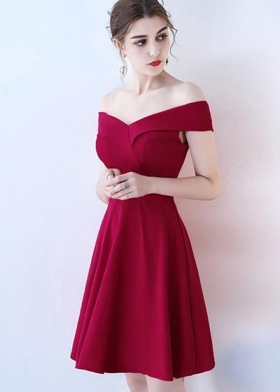f0db0d5f08 Compre Vestido de Festa Decote Princesa Ombro a Ombro Vinho