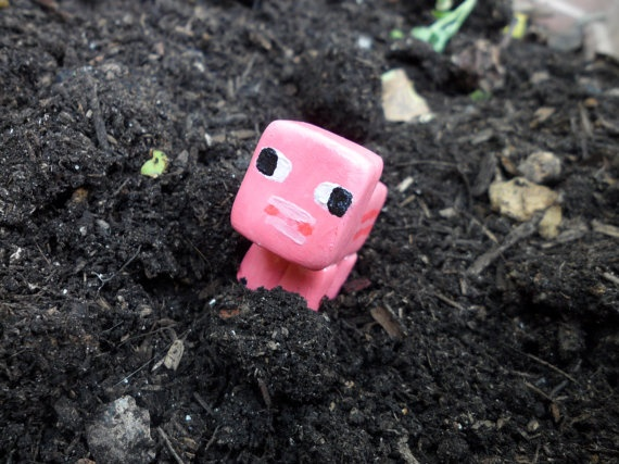 minecraft PIG, I want hella of these just creeping in my future garden.