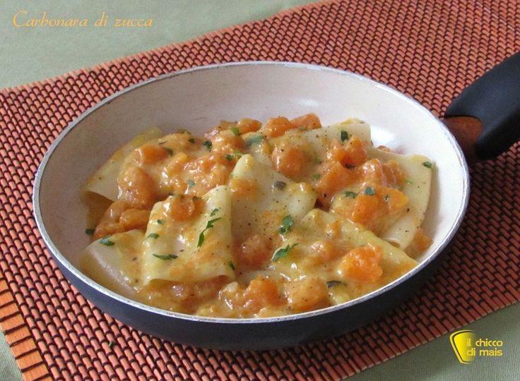 Carbonara+di+zucca,+ricetta+vegetariana