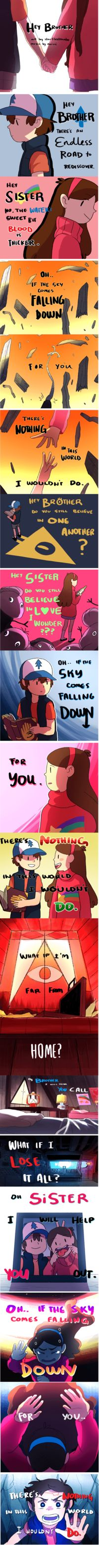 Gravity Falls | I Like Tearing My Heart Into Pieces What Are You Talking About? *Sobs In Corner*