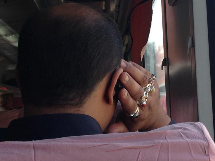 Front passenger had 9 rings on  right hand  Shatabdi express - 10.01.13 SBC MYS