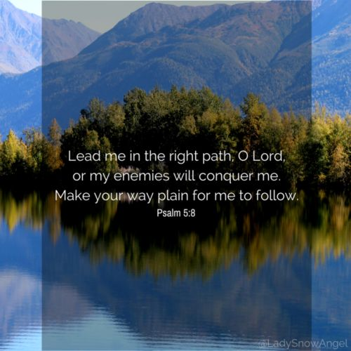 Psalm 5:8 NLT