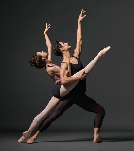 New York City Ballet's Lauren Lovette and Justin Peck. Photo by Henry Leutwyler.