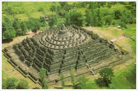 The Giant Ancient Buddhist Temple - Borobudur (Java Island, Indonesia)