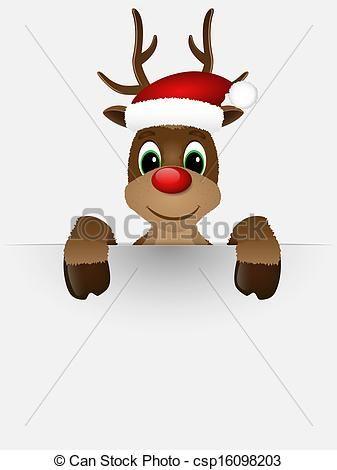 Vector - rendier, rood, Neus, kerstman, hoedje - stock illustratie, royalty-vrije illustraties, stock clip art symbool, stock clipart symbolen, logo, line art, EPS beeld, beelden, grafiek, grafieken, tekening, tekeningen, vector afbeelding, artwork, EPS vector kunst