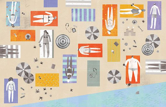 Spotlight! Maggie Li: Design Inspiration, Puck Collection, Illustrations, Beaches Backgrounds, Maggie Li, Li Puckcollect, Graphics Design, Summer, Human Body