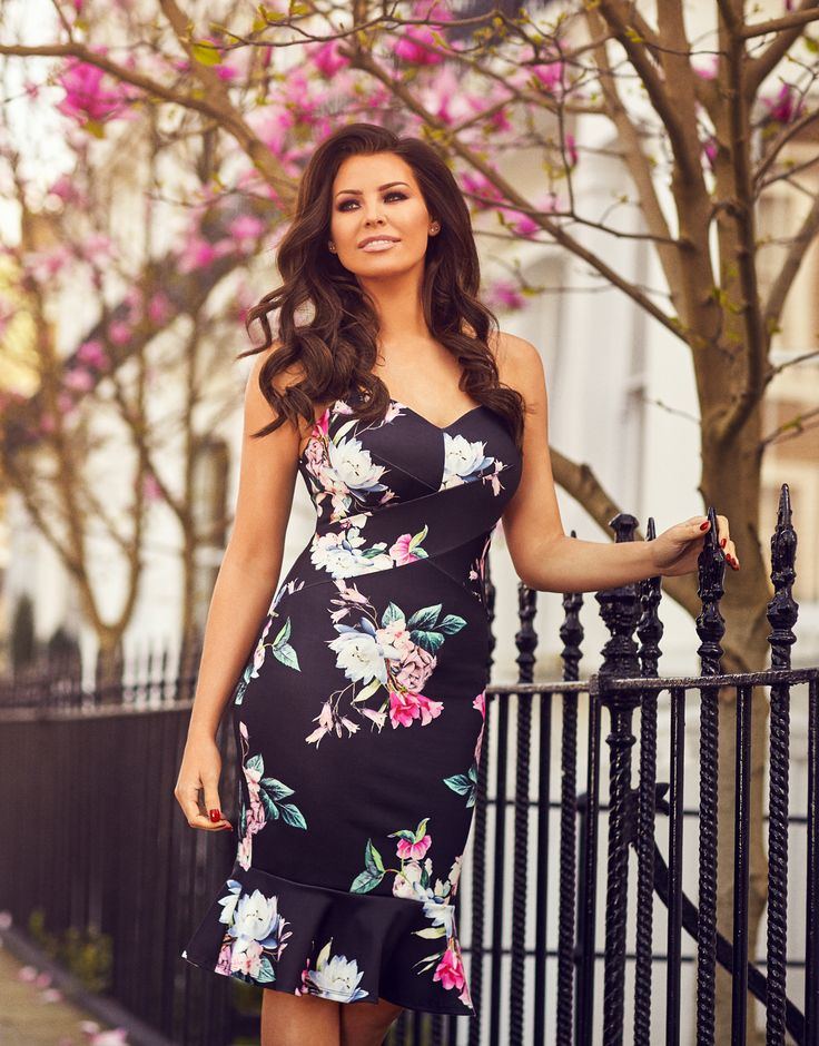 Jessica Wright Hallie Multicoloured Floral Bodycon Dress £65.00 This spaghetti strap midi dress is as versatile as they come. Style as you see fit to suit any occasion over the Spring/Summer months. Features a bright print and ruffle detail skirt.   Colour: Multicoloured