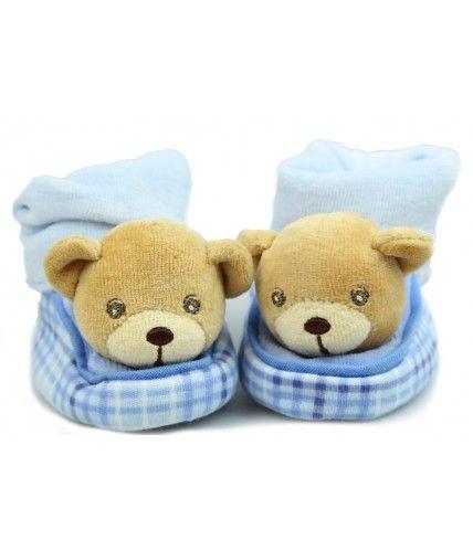 Buy Kaloo Teddy Bear Blue Booties Online