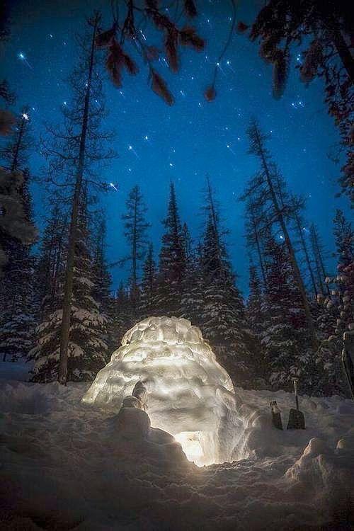 Midnight Snow Fort, Cascade Mountains, #Oregon