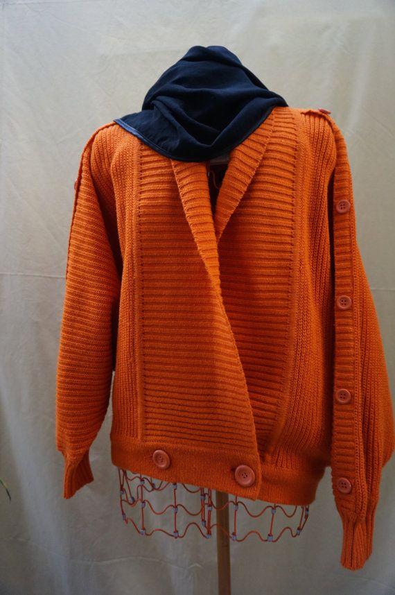 WOMENS XL sweater, Vintage Italian Cardigan, batwing sweater, plus size sweater, cotton sweater, XL womens sweater, unisex sweater 3