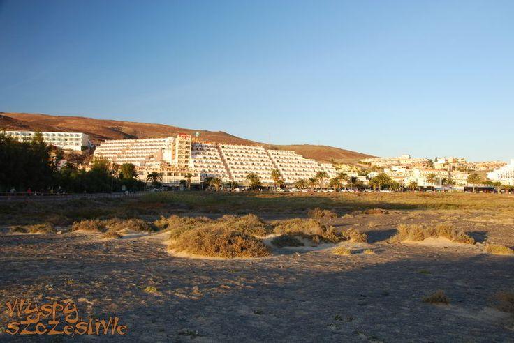 Widok na turystyczną dzielnicę Morro Jable, Playa Jandia