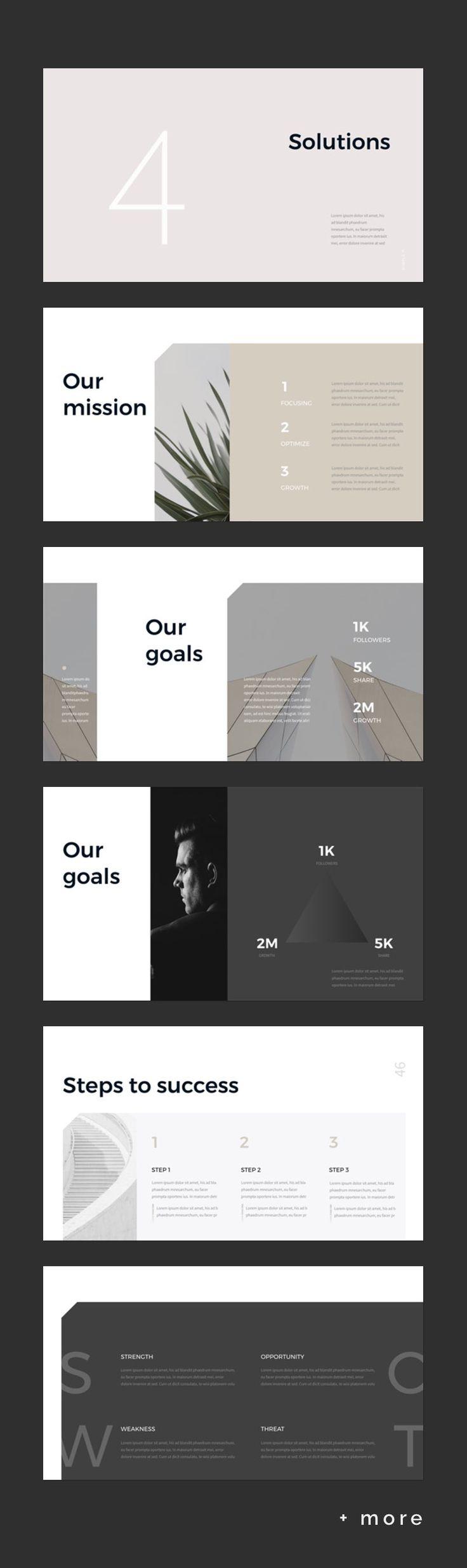 Simple & Minimal Presentation Template
