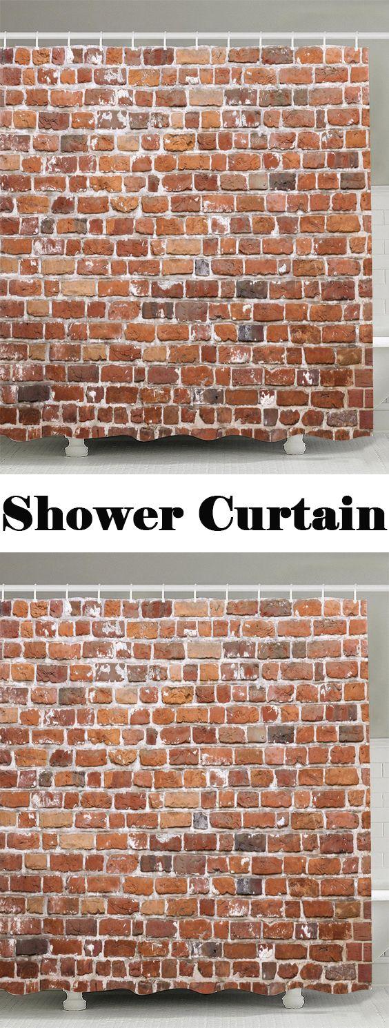 Brick Wall Design Anti-bacteria Shower Curtain | Bricks