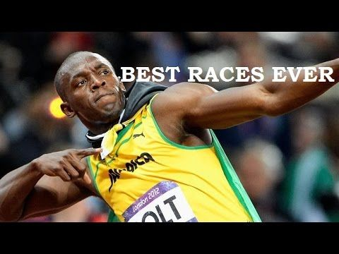 ® Usain Bolt ►BEST RACES EVER ® Because of Usain's long legs, he has a slower start than his opponents, but once he reaches near the 30m mark of the 100m race, he increases speed still looking down. Once he reaches the 50m mark of the 100m race, he starts to straighten up, running tall and up right. At that point, nobody can catch him.