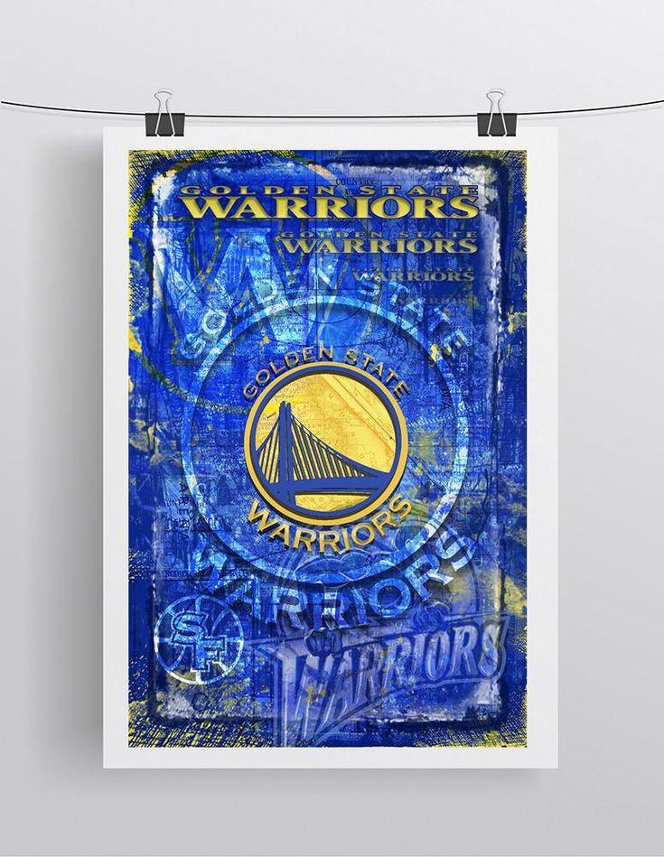 Golden State Warriors Basketball Poster, GSW, Warriors Print, Warriors Basketball Gift, Steph Curry Warriors Art